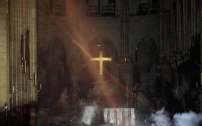 Notre Dame Cathedral fire: Cross and altar still standing after massive blaze in Paris