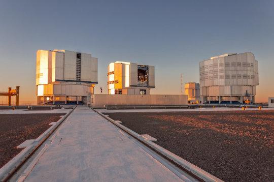 ESO's Very Large Telescope complex in Paranal, Chile (stock image). Credit: © CPO / stock.adobe.com
